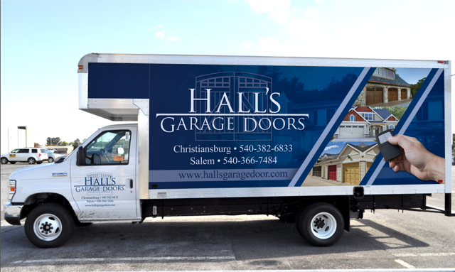 Hall's Garage Doors on the road